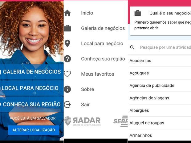 Aplicativo Sebrae Bahia (Foto: Reprodução)