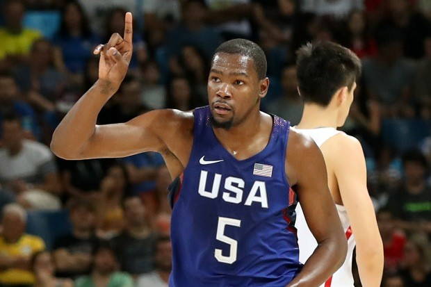 Kevin Durant, astro do basquetebol masculino dos Estados Unidos (Foto: Rob Carr/Getty Images)