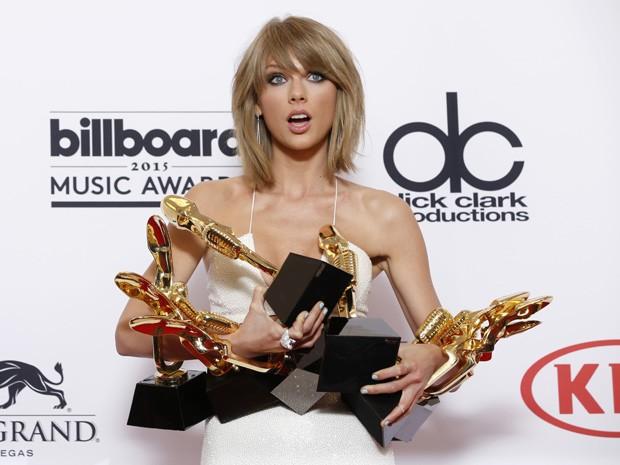 Taylor Swift ganhou cinco categorias do Billboard Music Awards 2015 (Foto: Eric Jamison/Invision/AP)
