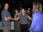 Susana Vieira recebe Juliana Didone após apresentação de peça