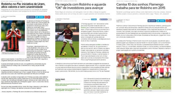 Robinho no Flamengo prints (Foto: Reprodução)