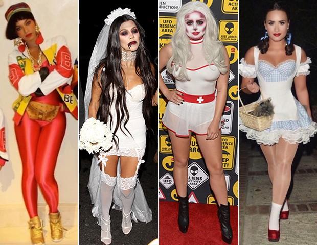 Beyoncé, Kourtney Kardashian, Ariel Winter e Demi Lovato (Foto: Getty Images/Akm/ Reprodução Instagram)