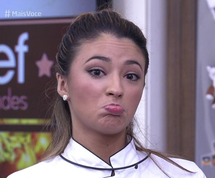 Carolina tem chance de voltar na repescagem! (Foto: TV Globo)