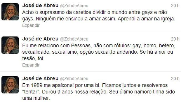 Tweets de José de Abreu (Foto: Reprodução)