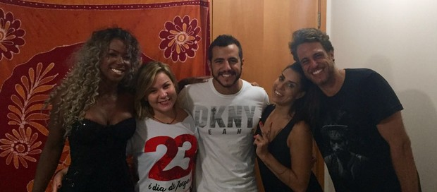 Adélia, Cacau, Matheus, Juliana e Daniel (Foto: Arquivo Pessoal)
