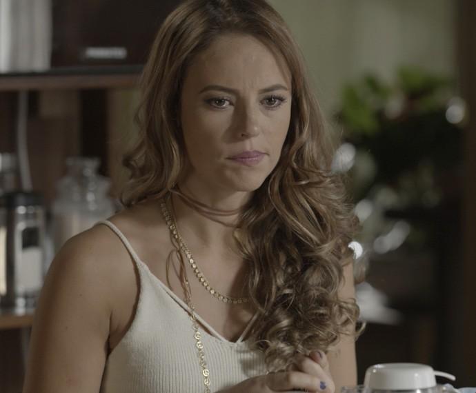 Melissa revela ser capaz de qualquer coisa para manter casamento com Felipe (Foto: TV Globo)