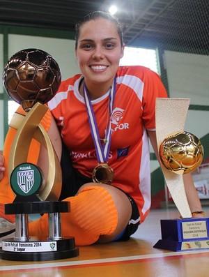 Missi fica com o título de melhor goleira da Liga Futsal Feminina (Foto   Poliana 42e943c8bf6e7