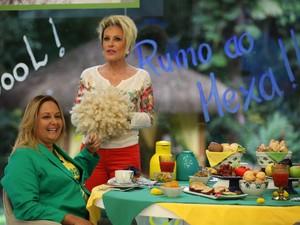 Mães dos jogadores tomam café da manhã com Ana Maria Braga (Foto: Camila Camacho/ TV Globo)