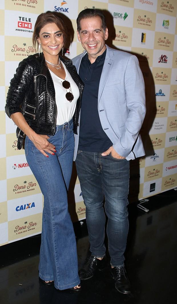 Juliana Paes e Leandro Hassum (Foto: Thiago Duran/AgNews)
