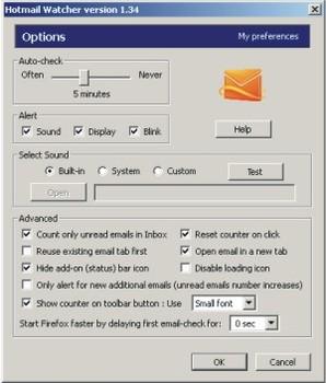 Hotmail Watcher, visualizador de emails para Hotmail