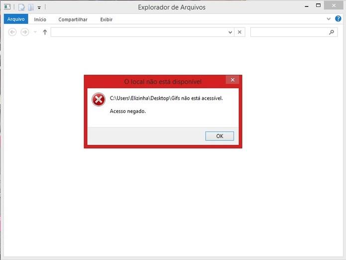 Acesso bloqueado a pasta no Windows com o Secure Folders (Foto: Reprodução/Marcela Vaz) (Foto: Acesso bloqueado a pasta no Windows com o Secure Folders (Foto: Reprodução/Marcela Vaz))