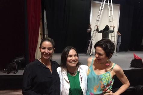 Danielle Winits, Regina Duarte e Maria Eduarda de Carvalho (Foto: Divulgação)