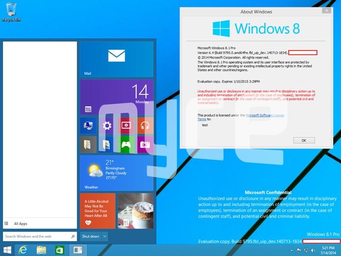 Nova versão do Windows vai trazer de volta o Menu Iniciar (foto: Reprodução/Myce)
