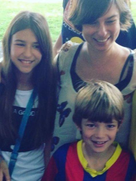 Maria Paula com os filhos, Maria Luiza e Felipe (Foto: Reprodução)