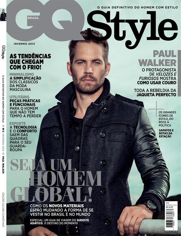 Paul Walker na capa da GQ Style inverno 2013 (Foto: Rodrigo Marques)