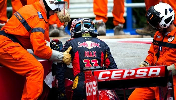 Max Verstappen acidente Mônaco