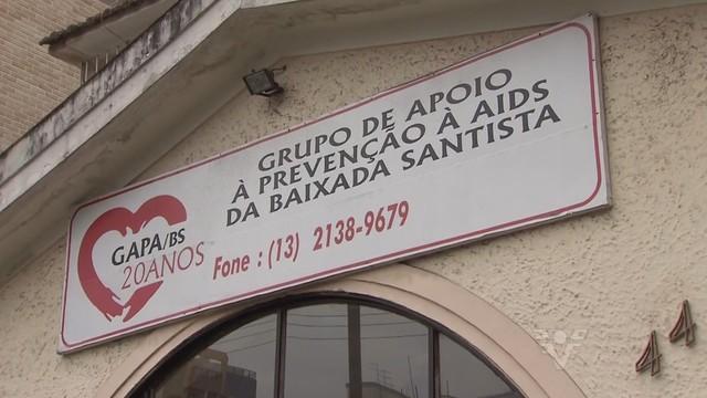 Grupo de Apoio a Prevenção à AIDS da Baixada Santista (Foto: Reprodução/TV Tribuna)