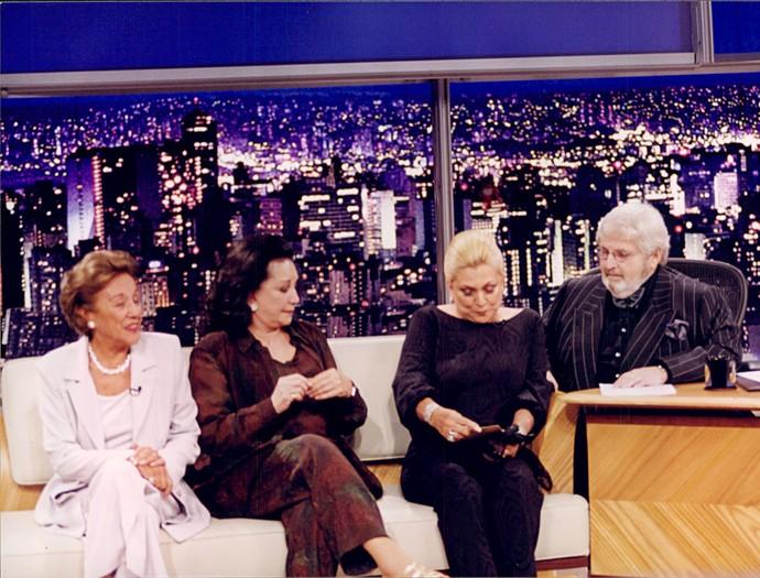 Nair Bello, Lolita Rodrigues e Hebe Camargo no Programa do Jô (Foto: Ricardo Martins/Programa do Jô)