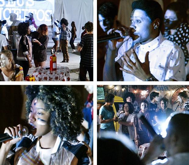 Basta! Alunos da Ribalta se empanham na luta contra o racismo (Foto: TV Globo)