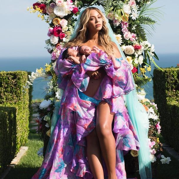 Beyoncé, Sir e Rumi Carter (Foto: Instagram/Reprodução)