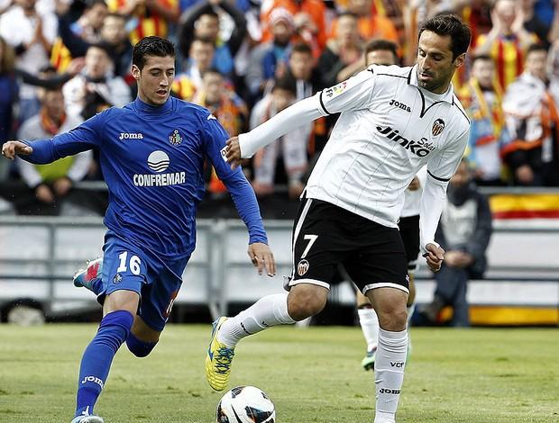 Jonas jogo Valencia Getafe (Foto: EFE)