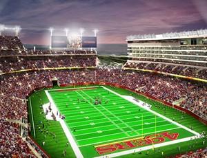 Simulação Levis Stadium San Francisco 49ers (Foto: Reprodução)