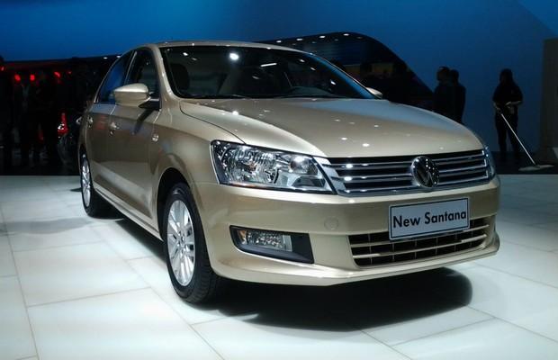 Volkswagen Santana no Salão de Xangai (Foto: Tereza Consiglio)