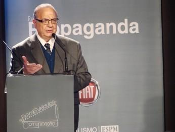 O presidente da editora Referência, Armando Ferrentini durante o evento. (Foto: Márcio Rodrigues/G1)
