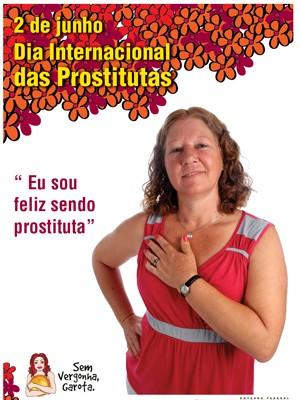Mensagem da campanha do Dia Internacional das Prostitutas que não foi aprovada pelo ministério (Foto: Reprodução)