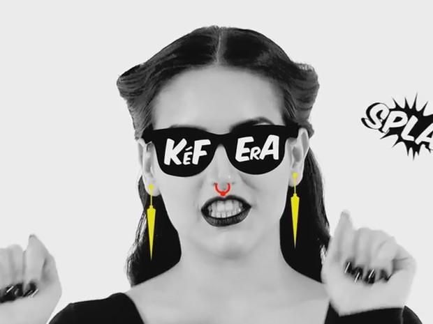 A youtuber Kéfera Buchmann faz paródia de 'Bang', da Anitta (Foto: Reprodução/YouTube)