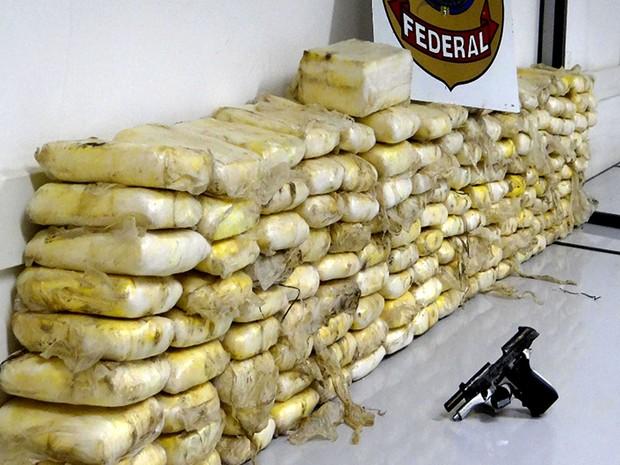 Investigações levaram a apreensão de cocaína (Foto: Divulgação/PF-MA)
