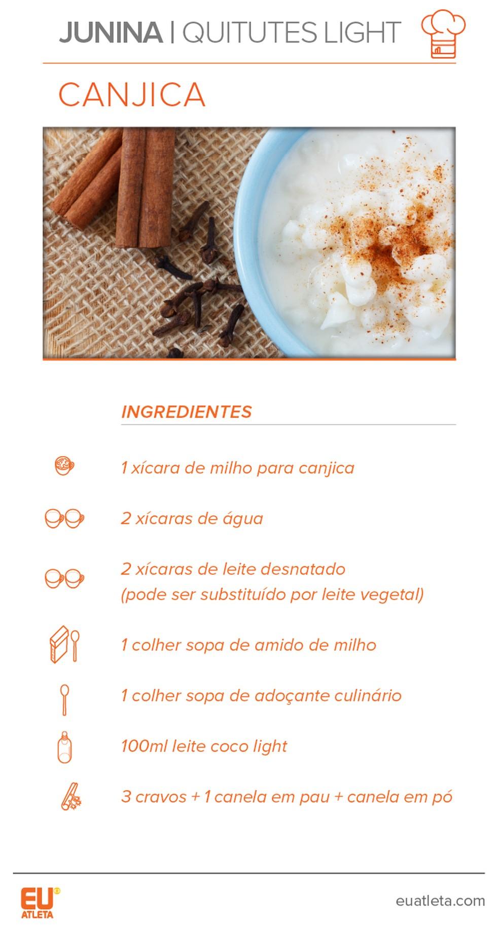 Receita de canjica (Foto: Eu Atleta)