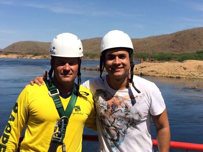 Menilson Filho encarou muitas aventuras durante o quadro 'Partiu Paraíso' (Foto: TV Sergipe)