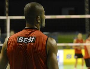 Lucarelli no treino do Sesi-SP em Belo Horizonte Minas Gerais (Foto: Divulgação/CBV)