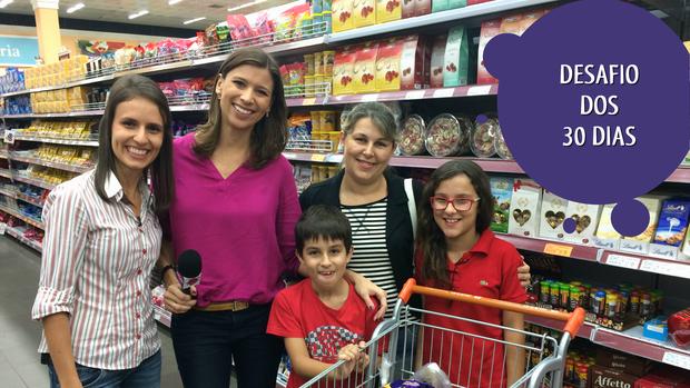 Passeio no supermercado (Foto: RBS TV/Divulgação)