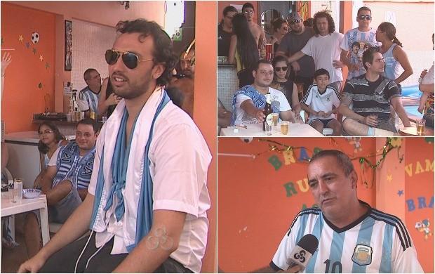 Torcida da Argentina no Acre assiste derrota do time na final da Copa do Mundo (Foto: Bom Dia Amazônia)