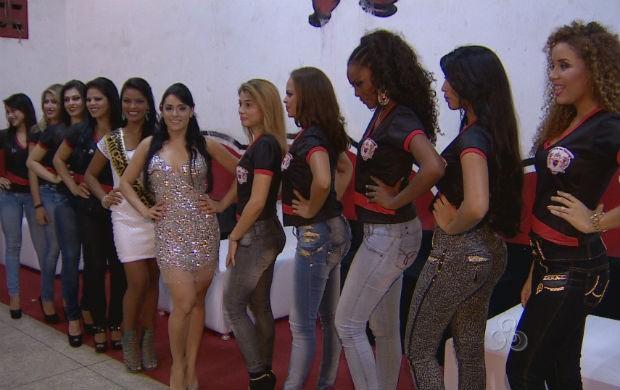 Candidatas do concurso Rainha das Rainhas 2014 (Foto: Reprodução/TV Amapá)