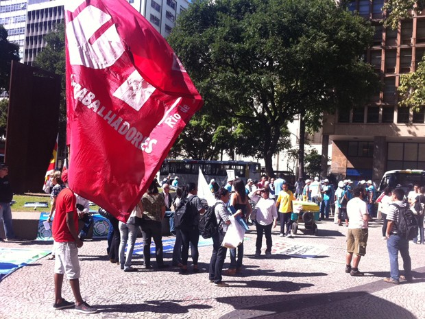 Servidores federais se concentram no Centro (Foto: Janaína Carvalho / G1)