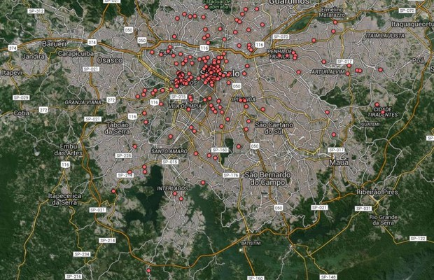 blocos_rua_mapa_estatico (Foto: Divulgação)