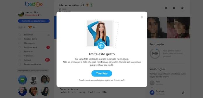 Badoo aumenta segurança com verificação do perfil por foto (Foto: Reprodução/Isabela Giantomaso)