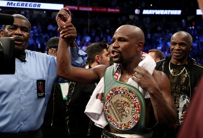 Floyd Mayweather vence Conor McGregor em Las Vegas  (Foto: Getty Images)