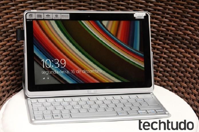 Acer Aspire P3 um novo híbrido com foco na portabilidade (Foto: Luciana Maline/TechTudo)