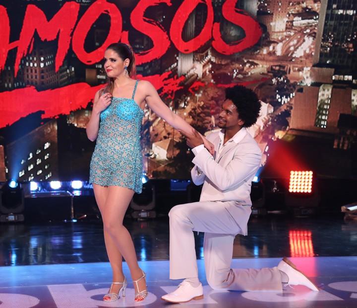 Mariana Santos e Marcus Lobo mostram entrosamento na dança (Foto: Carol Caminha / Gshow)