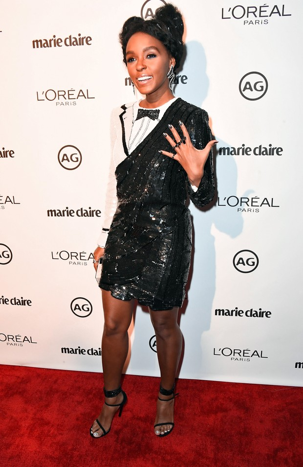 Janelle Monae em evento em Los Angeles, nos Estados Unidos (Foto: Frazer Harrison/ Getty Images/ AFP)