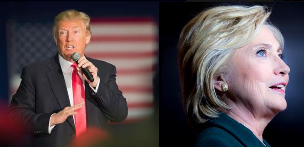 Donald Trump e Hillary Clinton: os candidatos à presidência dos EUA estão inspirando pais e mães na hora de registrar os filhos  (Foto: Reprodução/Facebook)