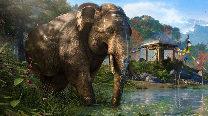 Elefantes aparentemente poderão servir de montaria em Far Cry 4 (Foto: The Dark Side of Gaming)