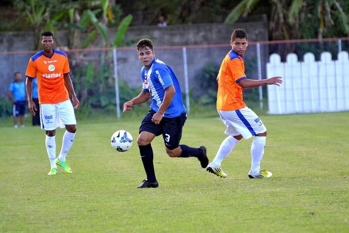 Atacante Henrique durante jogo-treino do Bahia contra o Confiança (Foto: Divulgação/E.C. Bahia)