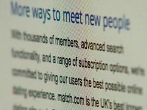 O site Match.com pede cuidado aos usuários antes de cederem contatos pessoais (Foto: BBC)