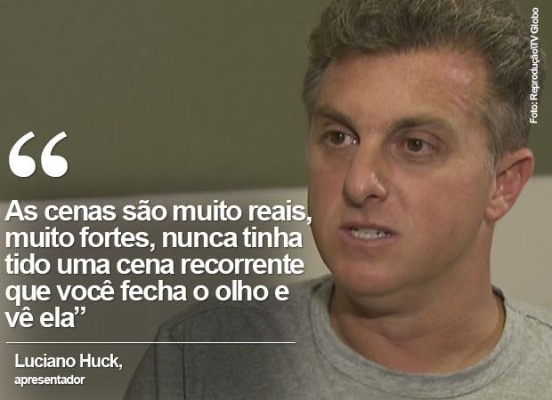 Luciano Huck não consegue parar de lembrar de cena (Foto: Reprodução/TV Globo)