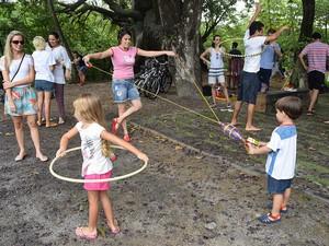 Jardim do Baobá tem espaço para brincadeiras, atividades artísticas e esportivas (Foto: Manuela Salazar/Inciti)